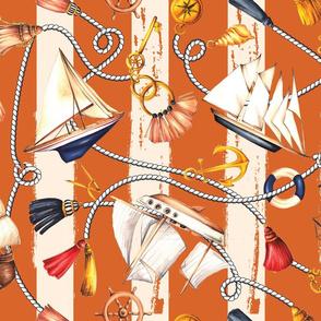 Set Sail! - Rusty Orange