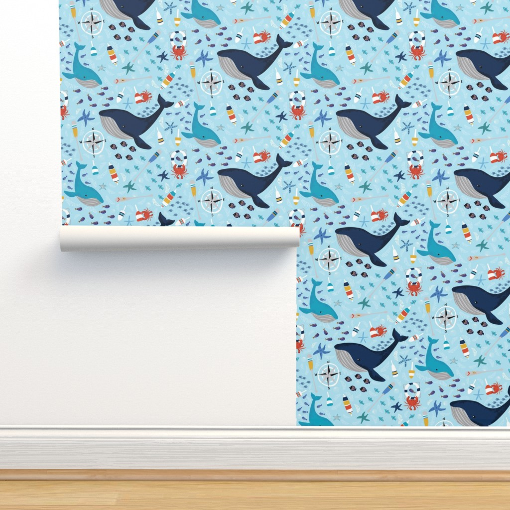 Isobar Durable Wallpaper featuring A Whale of a Tale by mhdesign