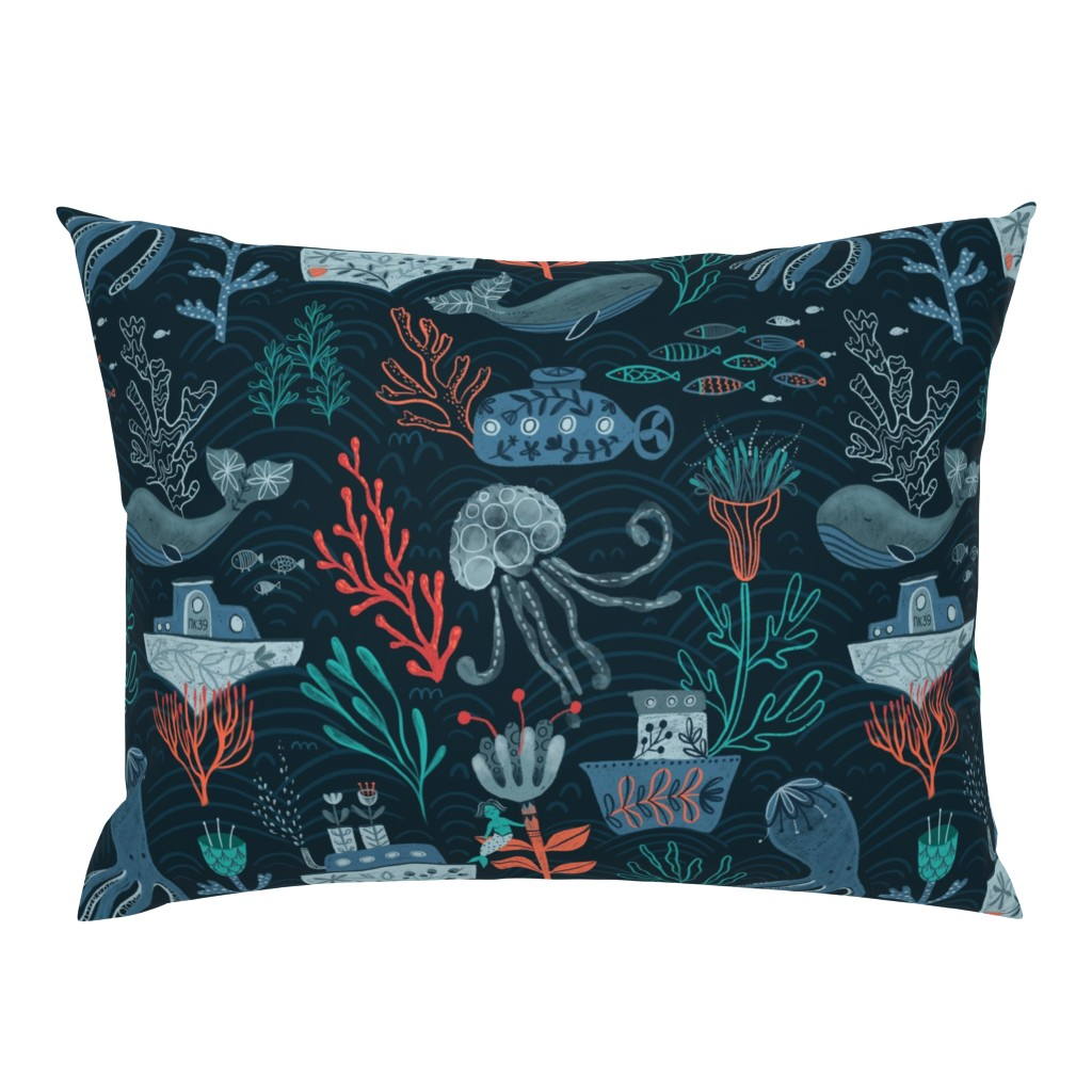 Campine Pillow Sham featuring Ocean Vibes by kostolom3000