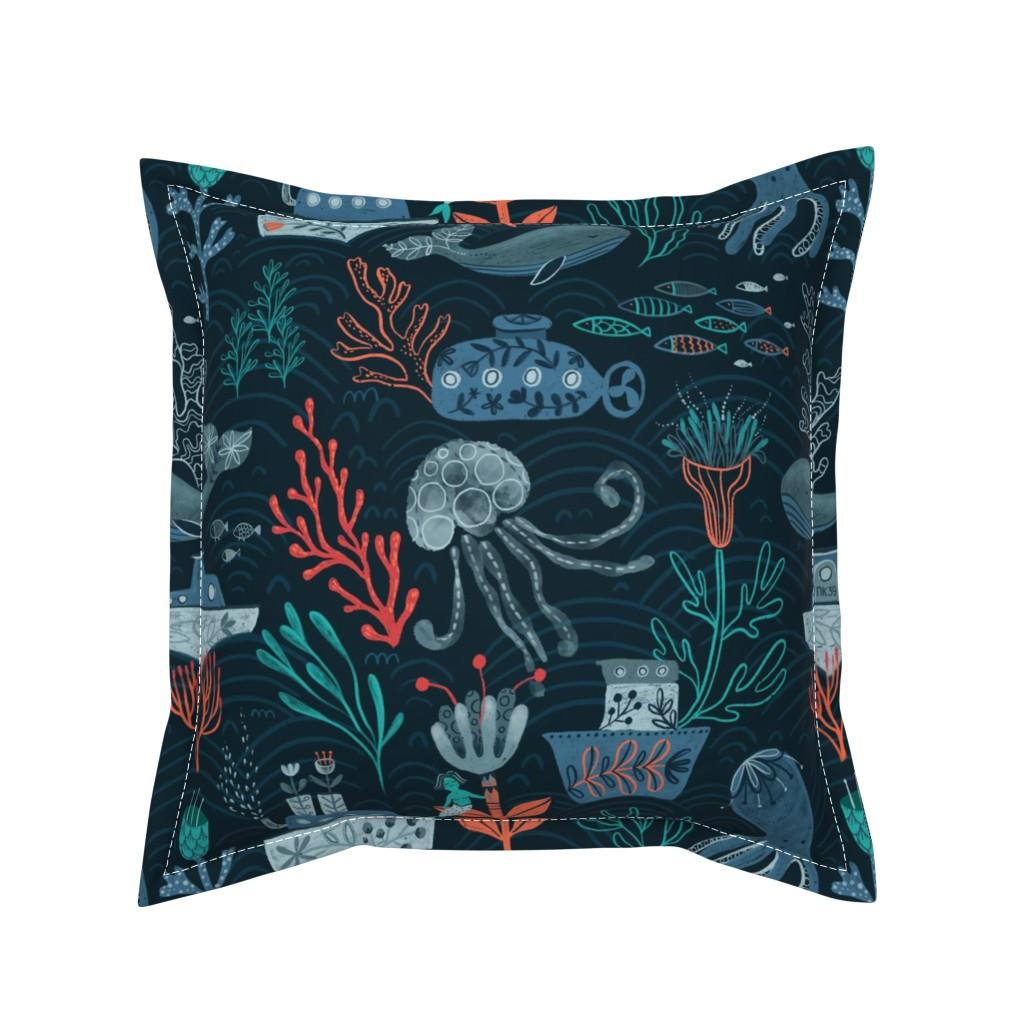 Serama Throw Pillow featuring Ocean Vibes by kostolom3000