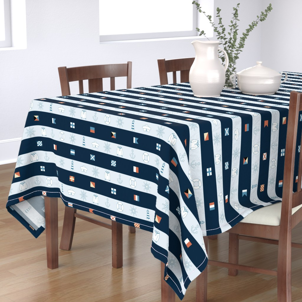 Bantam Rectangular Tablecloth featuring Maritime by twigged