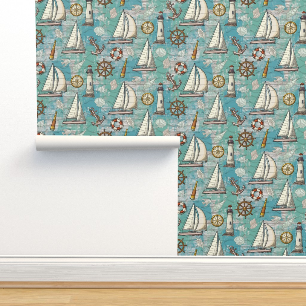 Isobar Durable Wallpaper featuring Nautical Challenge by malibu_creative