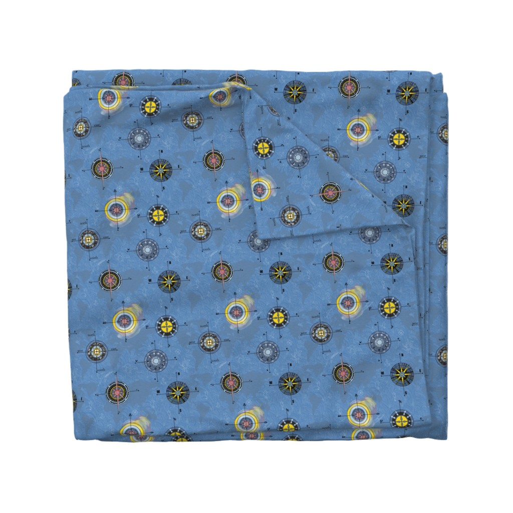 Wyandotte Duvet Cover featuring Navigating the waters by stasiajahadi
