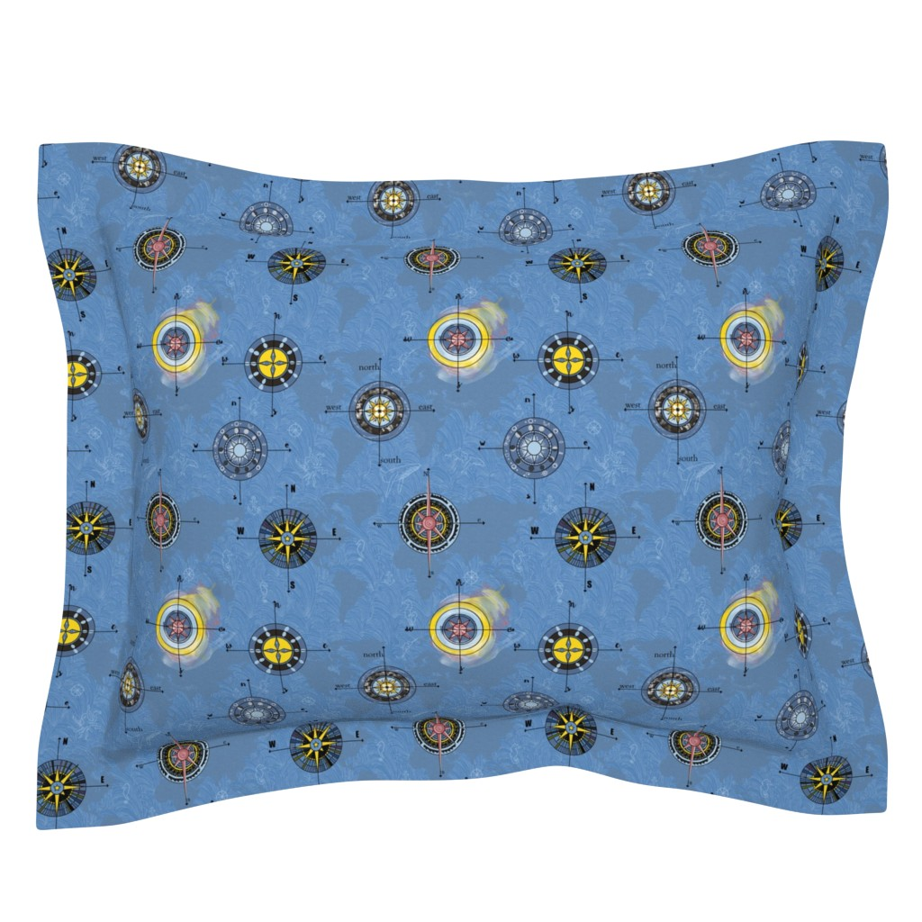 Sebright Pillow Sham featuring Navigating the waters by stasiajahadi