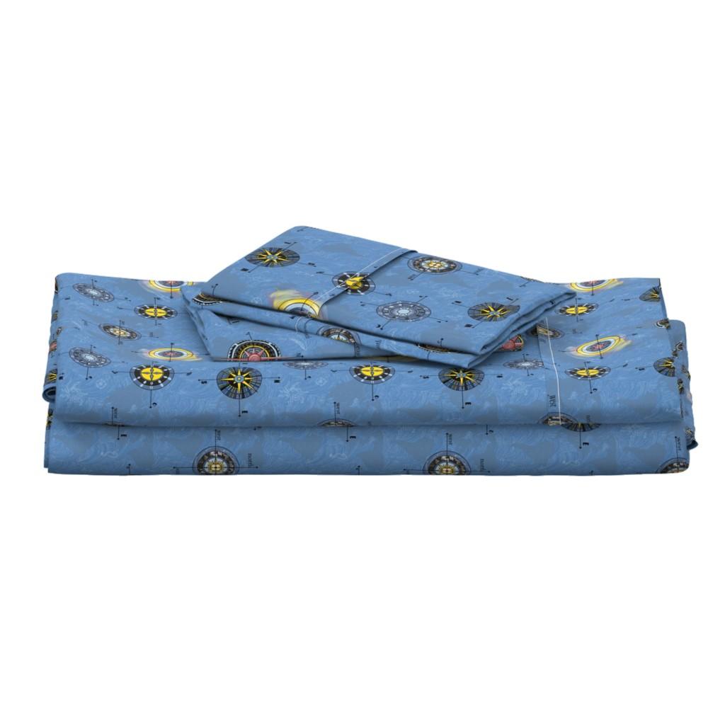 Langshan Full Bed Set featuring Navigating the waters by stasiajahadi