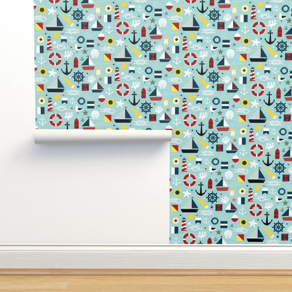Isobar Durable Wallpaper featuring Ahoy! Regatta Colors - Large by lellobird