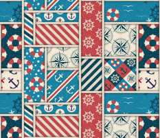 Nautical patchwork