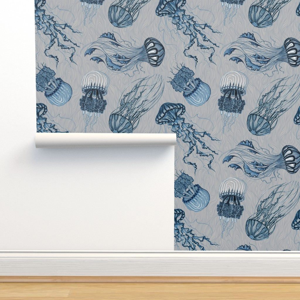 Isobar Durable Wallpaper featuring jellyfish by torysevas