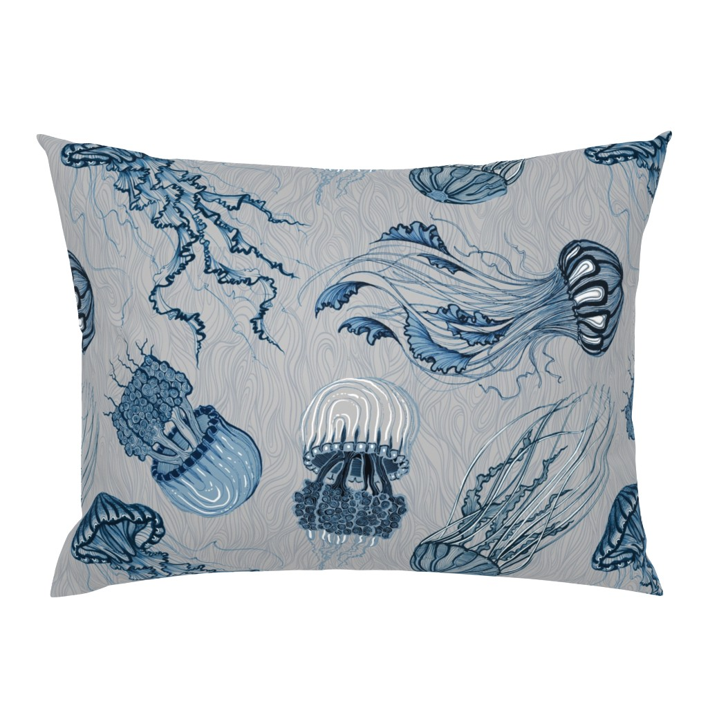Campine Pillow Sham featuring jellyfish by torysevas