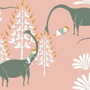 Dreaming about dino, Brachiosaurus, pink