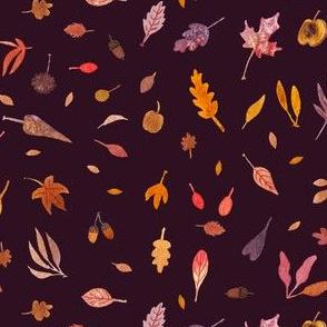 Tiny Leaves - Maroon variant
