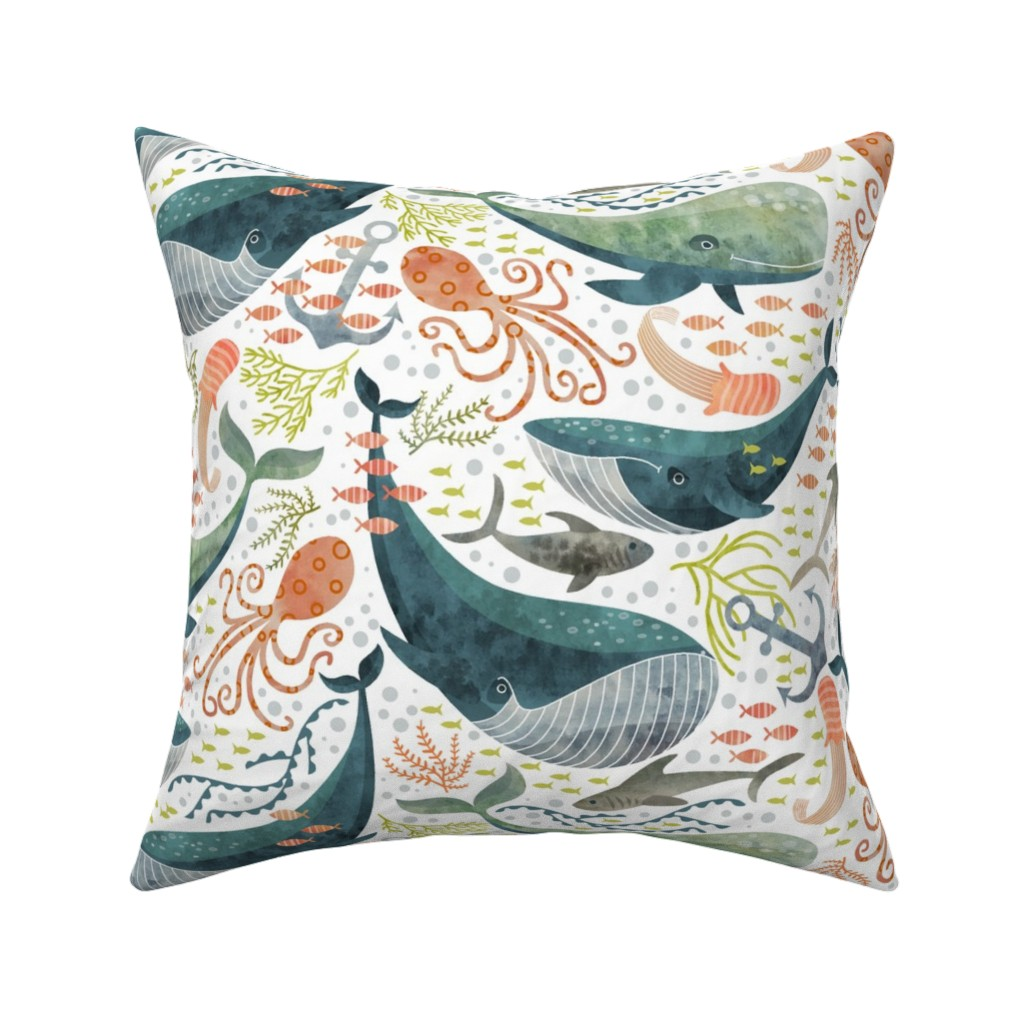 Catalan Throw Pillow featuring nautical sea by cjldesigns