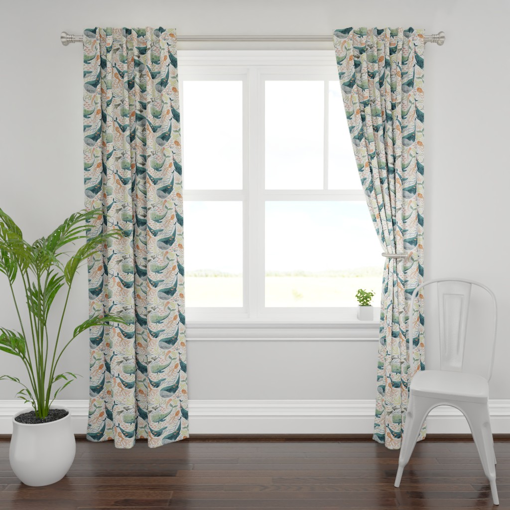 Plymouth Curtain Panel featuring nautical sea by cjldesigns