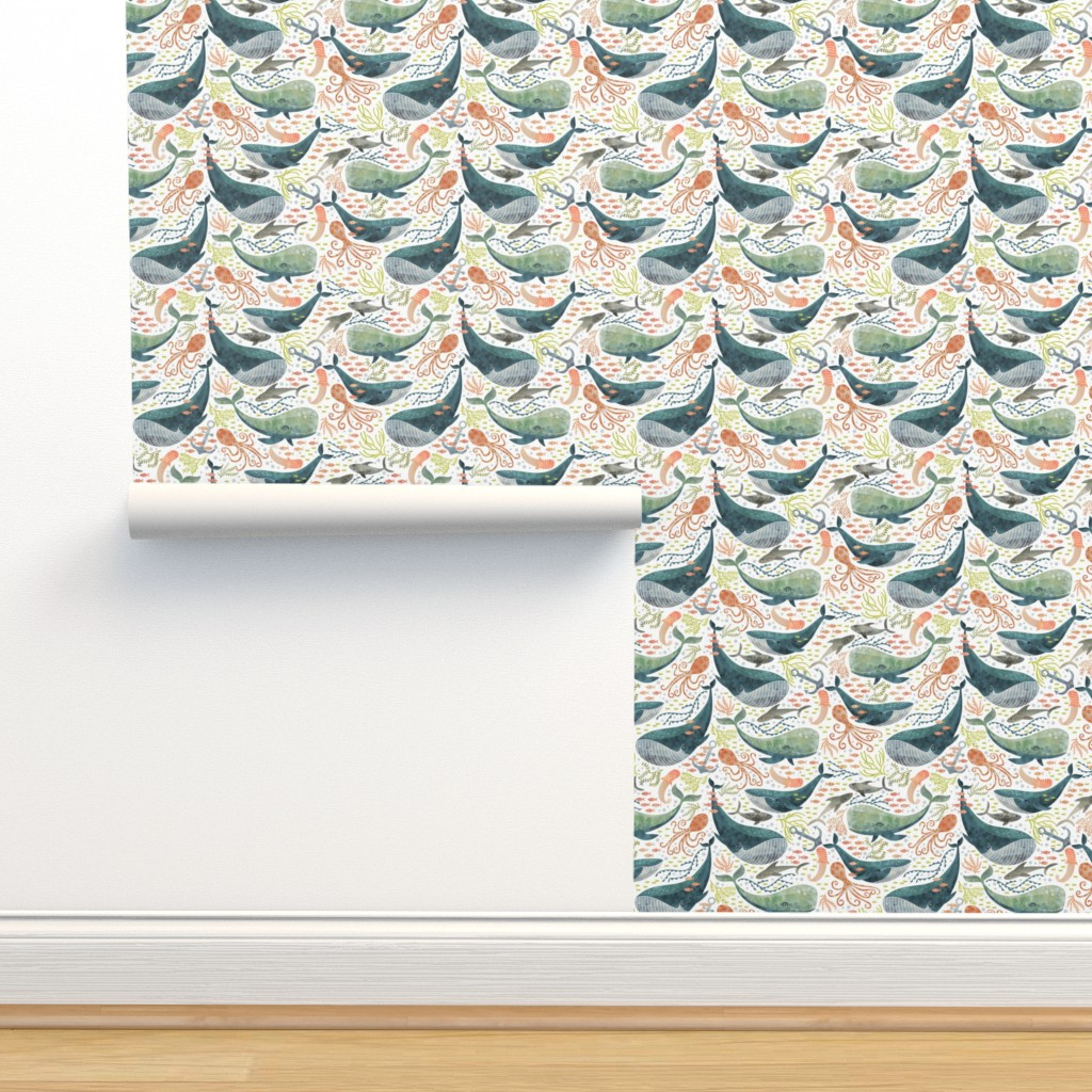 Isobar Durable Wallpaper featuring nautical sea by cjldesigns