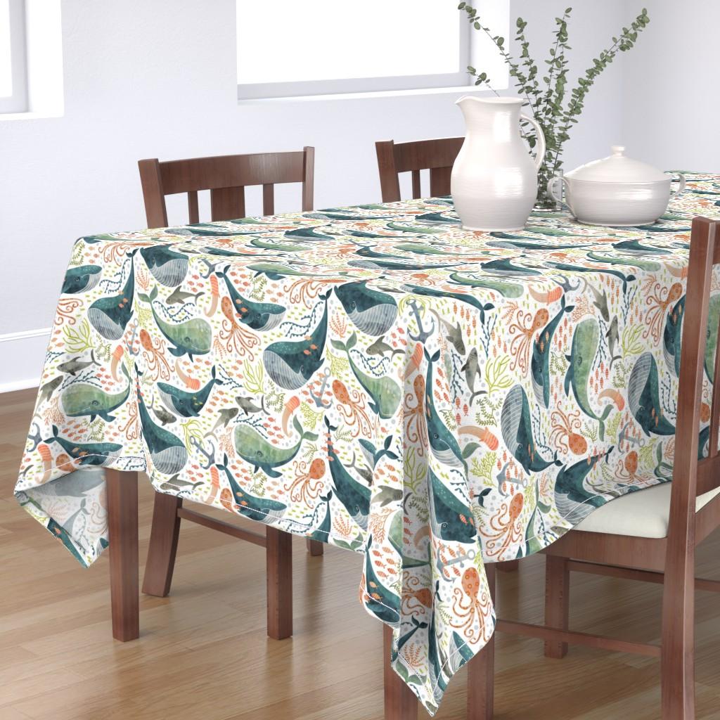 Bantam Rectangular Tablecloth featuring nautical sea by cjldesigns