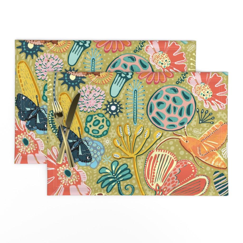 Lamona Cloth Placemats featuring Microscopic Pollen Patterns. by slumbermonkey