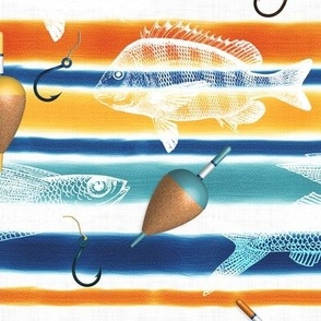 Nautical Stripes (Fishes)