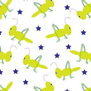 Crickets & Royal Blue Stars