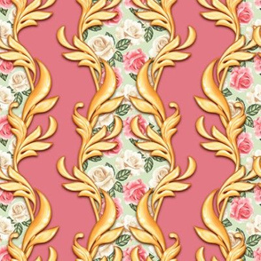 Baroque pattern with roses