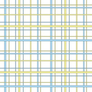 Yellow and  blue plaid Small Print
