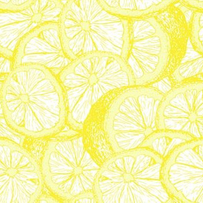 Lemons hand drawn seamless vector pattern