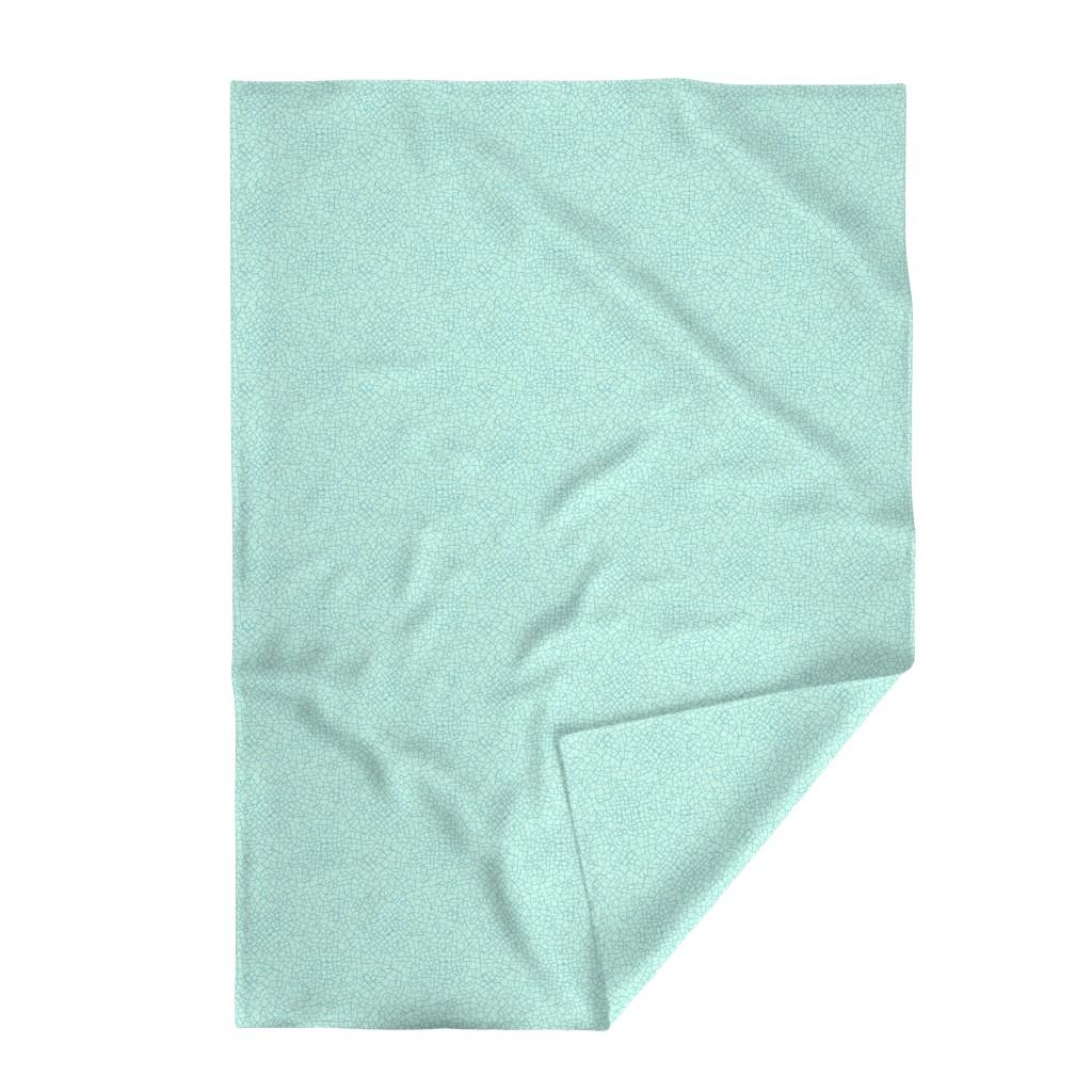 Lakenvelder Throw Blanket featuring crackled - light blue by diseminger