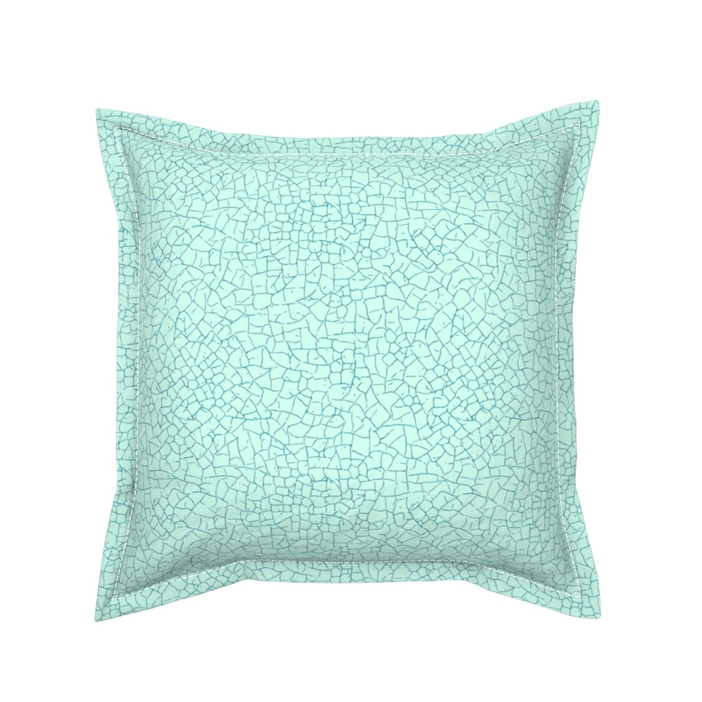 Serama Throw Pillow featuring crackled - light blue by diseminger