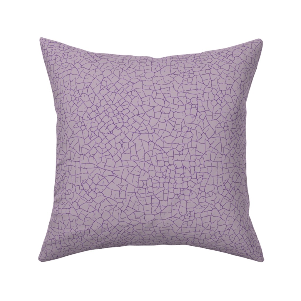 Catalan Throw Pillow featuring crackled - light purple by diseminger