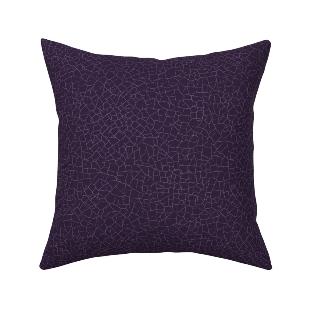 Catalan Throw Pillow featuring crackled - purple by diseminger