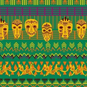GREEN AFRICAN PRINT