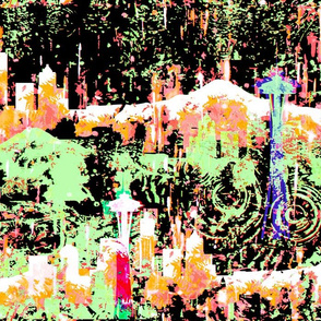 Seattle Grunge in a Psychedelic the Rain