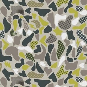 Not Camouflage Green & Gray Small