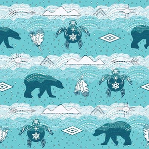 Totems on Turquoise