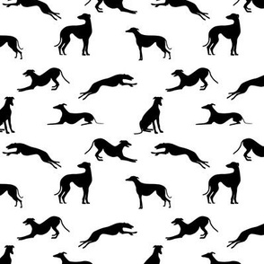 Greyt Greyhound Jumble in Black and White