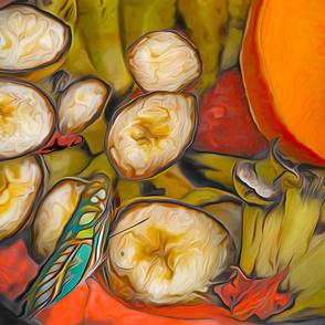 Bananas butterfly Mangoes