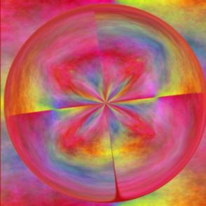 Plasma Amazing Circle Pillow 21x18
