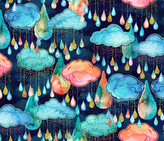 Glitter Rain Clouds