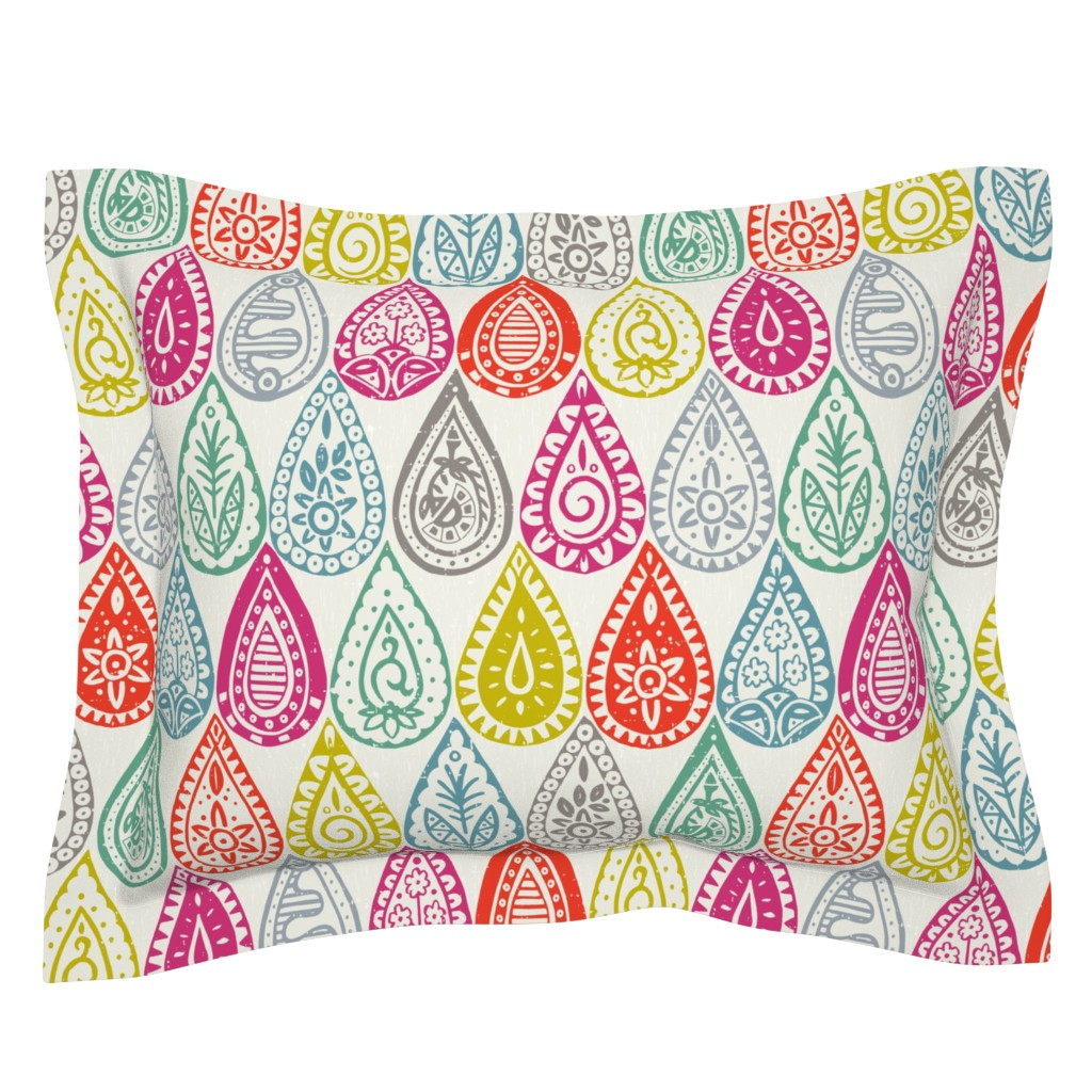 Sebright Pillow Sham featuring Indian raindrops by scrummy