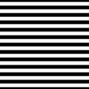 Black and White 3/4 inch Horizontal Deck Chair Stripes
