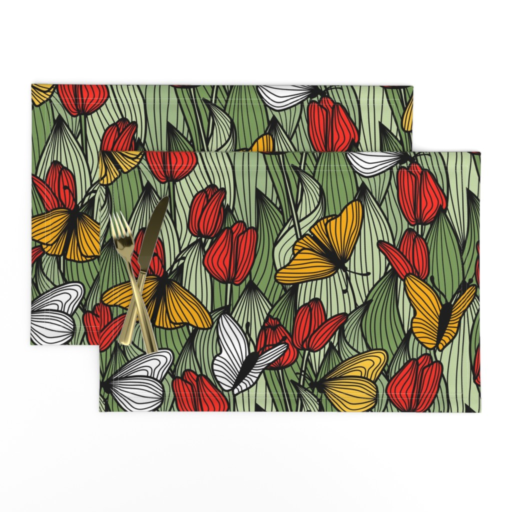 Lamona Cloth Placemats featuring Butterfly Garden by amy_maccready