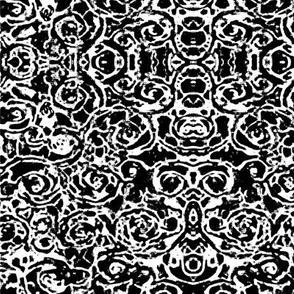 Ikat Black/White Texture Batik