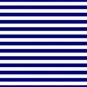Blue and White ¾ inch Deck Chair Horizontal Stripes