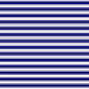 Blue and White 1/8-inch Thin Pencil Horizontal Stripes