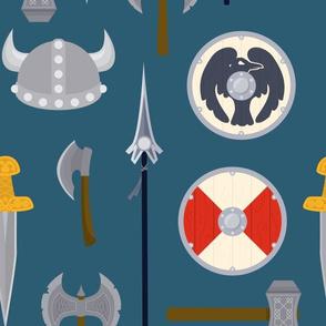 Large viking weapons
