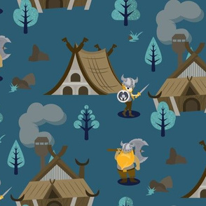 Viking village in the forest