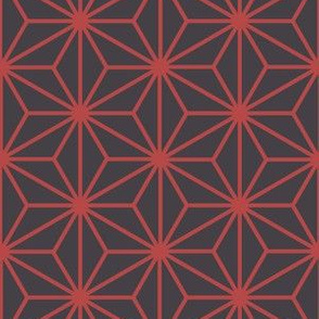 Hexagonal geometric floral