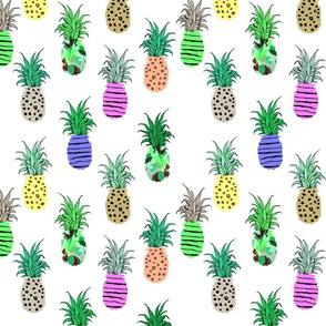 Colorful Boho Pineapples