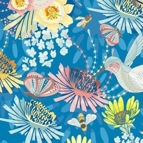 Springtime Buzz Cobalt Blue