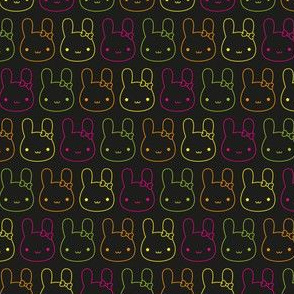Kawaii Neon Bunny Bows
