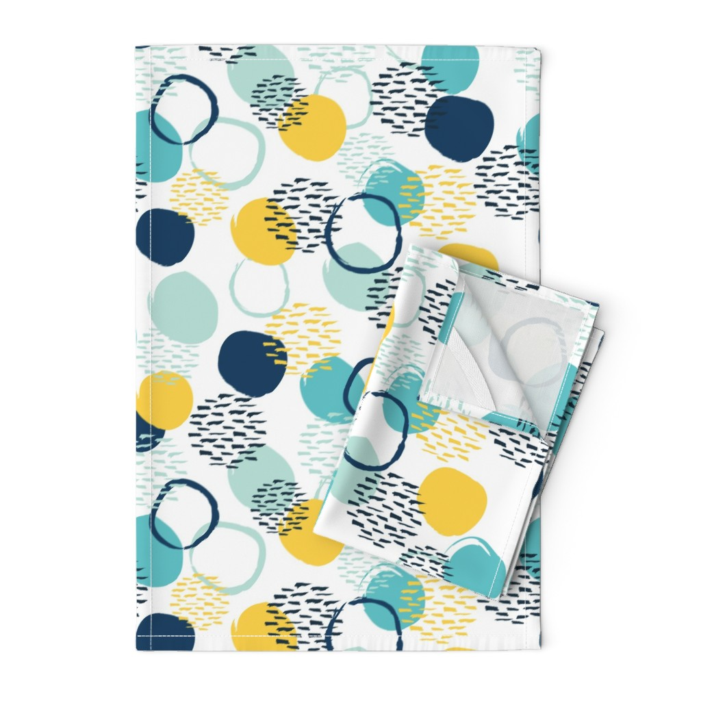 Orpington Tea Towels featuring Abstract circles  by essentially_nomadic